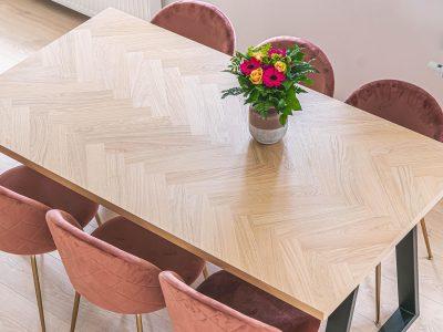 Sildebensbord plankebord i lys egetræ